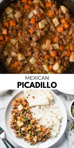 This Mexican Picadillo recipe con papas is an easy, warm and comforting dish made from ground beef and potatoes cooked in a flavorful tomato sauce. Great in tacos, gorditas and tostadas! with ground beef and potatoes Mexican Picadillo Authentic Mexican Recipes, Mexican Dinner Recipes, Mexican Dinners, Mexican Desserts, Beef Picadillo, Ground Beef And Potatoes, Ground Beef Recipes For Dinner, Ground Beef Recipes Easy, Cucina