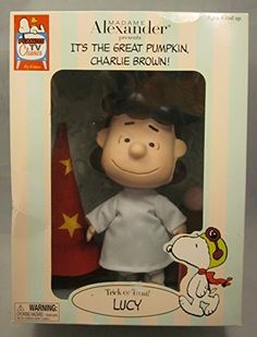 """My favorite part of this Madame Alexander """"Trick or Treat Lucy Doll"""" from """"It's The Great Pumpkin Charlie Brown"""" is the green mask that is included for Lucy to wear!"""