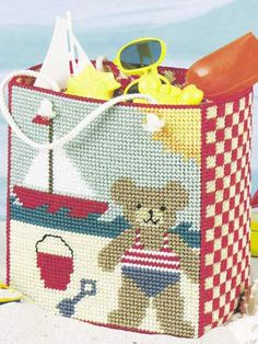 Plastic Canvas - Accessories - Decorations & Knickknacks - Summer Day Tote - #FP00041