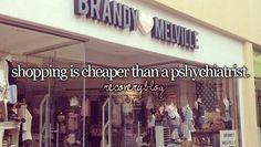 shopping is always nice :D