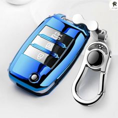 Key Protective Case Car Key Cover Price: $ 12.00 & FREE Shipping #cute Car Supplies, Rv Parts, Key Covers, Key Case, Car Keys, Performance Parts, Interior Accessories, Blue And Silver, Protective Cases