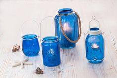 Suport lumanare Barbados, Sticla, Ø14xH21 cm #homedecor #inspiration #blue #decoration #interiordesign #tropical Barbados, Tropical, Interiores Design, Water Bottle, Drinks, Vintage, Drinking, Beverages, Water Bottles