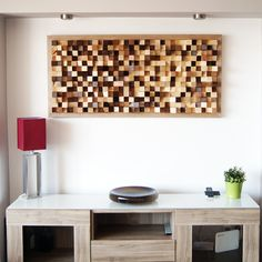 Acoustic panel wall art made of wood by WoodBlocker