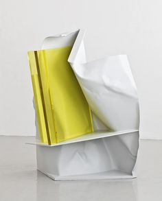 a-beautifulchaos:Anthony Caro, 'Alpine,' 2012 Annely Juda Fine Art Op Art, Abstract Sculpture, Sculpture Art, Anthony Caro, Arte Pop, Action Painting, Mellow Yellow, Art Object, Installation Art
