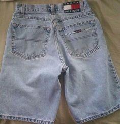Men's Vintage Tommy Hilfiger Jean Shorts 29 Large Patch  #TommyHilfiger #Denim