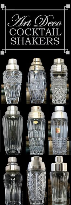 Art Deco Crystal Cocktail Shakers | Buy online: www.armoireancienne.etsy.com