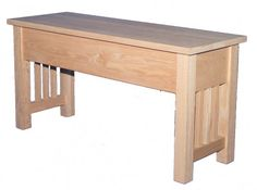 Bench - Mission style Storage Bench downtoearthwood.com