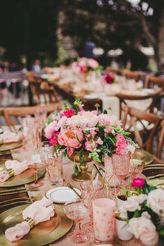 Wedding reception flower idea; photo: Melissa Biador