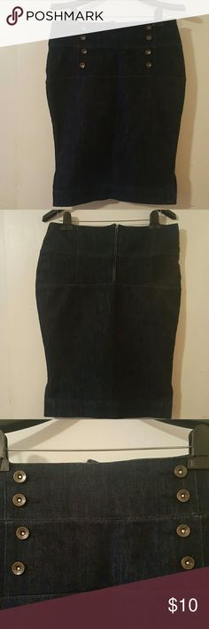 Trendy Blue Jean Skirt Trendy Blue Jean Skirt...Size 8.... 24 Inches Long... 83% Cotton 15% Polyester 2% Spandex Skirts Midi