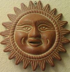 Ceramic Mexican Sun Mask
