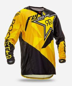 Fly Racing Kinetic Rockstar Mens Off Road Dirt Bike Racing Motocross Jer