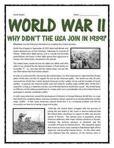 The United States and the Decision to enter World War I
