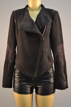 The awesome black jacket  60%poly 40%wool