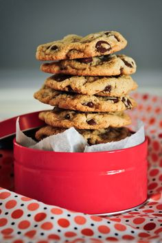 a tower of goodness, gluten & dairy free chocolate chip cookies