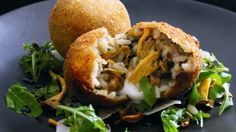 How to make the perfect Wild Mushroom Arancini with Mozzarella by Jun Tanaka on Food Network UK.