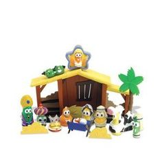 Veggie Tales Nativity Set--Irreverent, in a way, but it made me laugh out loud.