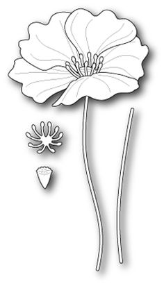 Memory Box LARGE ICELAND POPPY POPPY STAMPS Craft Die 1182 at Simon Says STAMP!