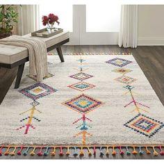 Bungalow Rose Wayne Moroccan Tribal Beige/Gray Area Rug Rug Size: Rectangle x Grey Rugs, Beige Area Rugs, Deco Zen, Romantic Bedroom Decor, Tribal Decor, Rugs On Carpet, Carpets, Rug Size, Kids Rugs