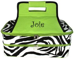 $18.50 Zebra Insulated Double Casserole Tote (Shown with Optional Personalization)