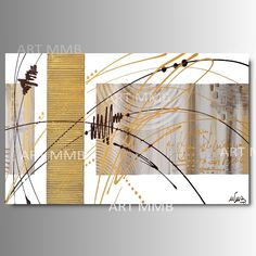Produzione Quadri moderni astratti 100% dipinti a mano 2 Quadri Moderni Astratti Toni del tortora oro marrone bianco