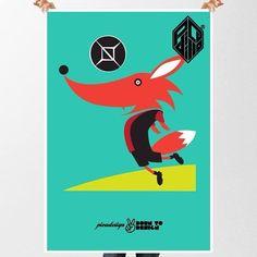 """Mi ilustración de personajes mascotas de futbol mexicano @Picadillo Ilustrador's photo: """"Personaje Futbol Mexicano #futbol #zorros #atlas #rojinegros #guadalajara #mexico #monterrey #ilustracion #illustration #drawing #vector #animal #anime #fashion #workbook #character #mascota"""""""