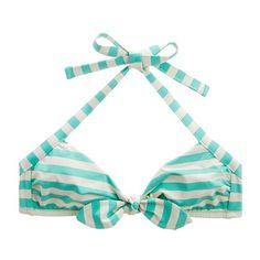 Sailstripe Tie-Front Bikini Top Madewell