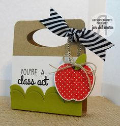Card by Jen del Muro. Reverse Confetti stamp set and coordinating Confetti Cuts: Class Act. Teacher Appreciation.