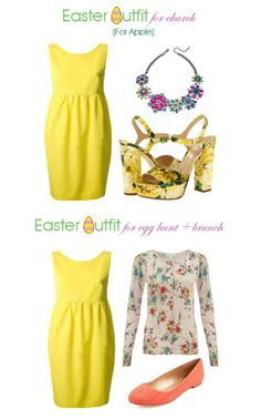 #easter sunday #outfit idea for church egg hunt brunch for apple body shape