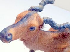 SOLD!!! Vintage Real Fur Figurine Antelope by VintageRenude on Etsy, $35.00