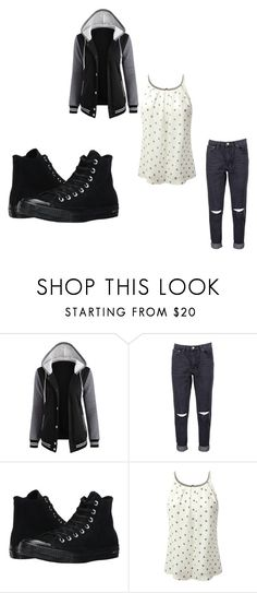 """Casual Clothes - Black"" by my4dazz on Polyvore featuring Boohoo and Converse"