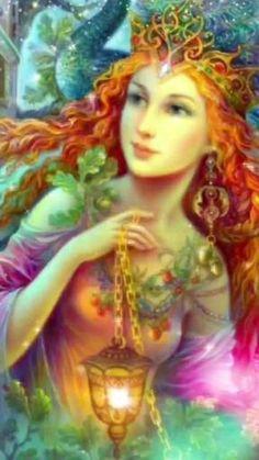 Fantasy Paintings, Cross Paintings, Fantasy Artwork, Beautiful Gif, Beautiful Fairies, Beautiful Paintings, Fantasy Women, Fantasy Girl, Josephine Wall