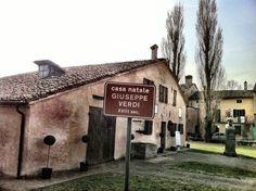 Verdi's birthplace in Roncole.