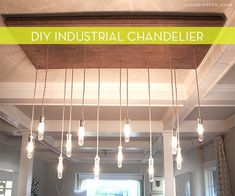 DIY Edison Style Industrial Chandelier
