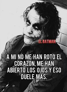 Y qué lo digas Joker Frases, Joker Quotes, Funny Quotes, Life Quotes, Wisdom Quotes, Qoutes, Heath Ledger Joker, Joker And Harley Quinn, Spanish Quotes