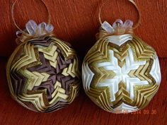 "Image result for 2"" quilted ornament"