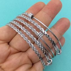 Bulk 50pcs BRAIDED TWISTED Stainless Steel Adjustable Wire