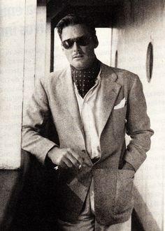 """Errol Flynn photographed on board of the SS Matsonia, October 1938. """
