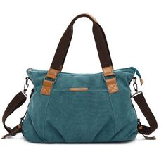 Women Retro Canvas Tote Handbags Casual Shoulder Bags Capacity Shopping Crossbody Bags - Banggood Mobile