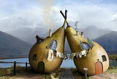 Pear Fairy Houses (manipulation)