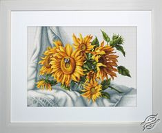 Sunflowers - Cross Stitch Kits by Luca-S - B2264