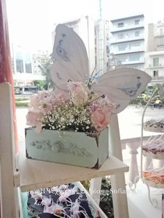 Sofia's art (Texni tis Sofias)'s Baptism / Butterflies - Photo Gallery at Catch My Party Baptism Themes, Baptism Party, Butterfly Photos, Photo Galleries, Shabby Chic, Baby Shower, Birthday, Garden, Enchanted Garden