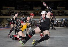 She was most likely NOT in derby stance.
