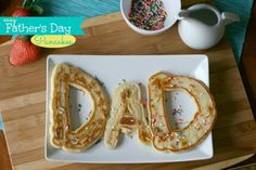 Here are some FUN pancakes the kids can help make for Father's Day!