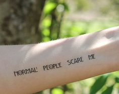 AHS Normal People Scare Me Temporary Tattoo