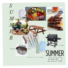"""Summer BBQ fun"" by sara-horton-1 on Polyvore featuring interior, interiors, interior design, home, home decor, interior decorating, DutchCrafters, Dyna-Glo, Dibor and Certified International"