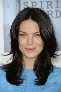 Michelle Monaghans long layered hairstyle