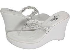VOLATILE Bridal Women's Wedge Shoes White