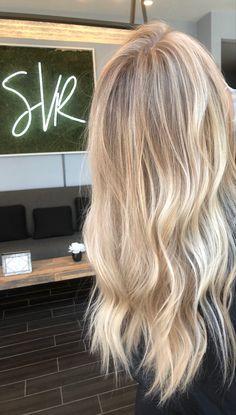 Summer Blonde Hair, Bright Blonde Hair, Blonde Hair Shades, Dyed Blonde Hair, Honey Blonde Hair, Blonde Hair Looks, Blonde Long Hair, Blonde Foils, Beautiful Blonde Hair