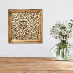 Stratton Home Decor Mixed Material Floral Medallion Wall Decor