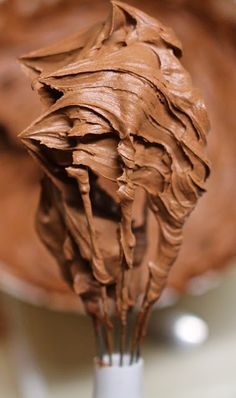 Chocolate Buttercream Frosting {Two Ingredient} ~ butter and chocolate chips or chopped chocolate.